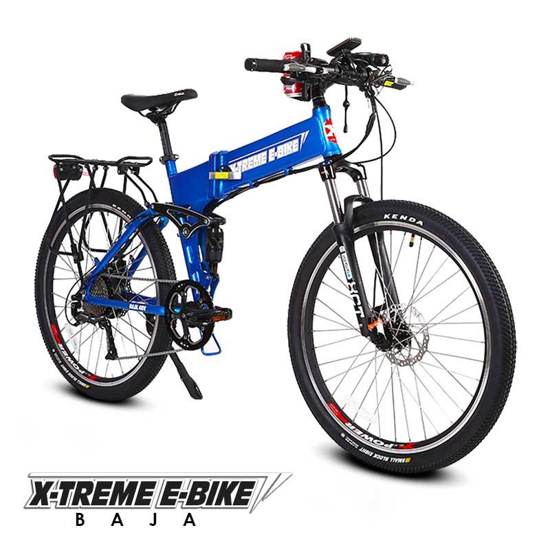 Xtreme-e-Bike-Baja-Electric-Folding-Bicycle-Profile-blue
